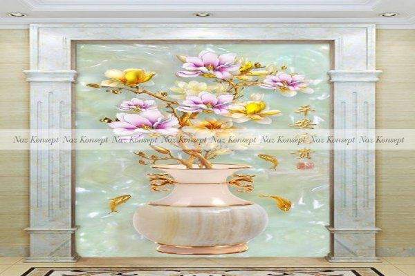 Vazo Temalı Duvar Kağıdı 19