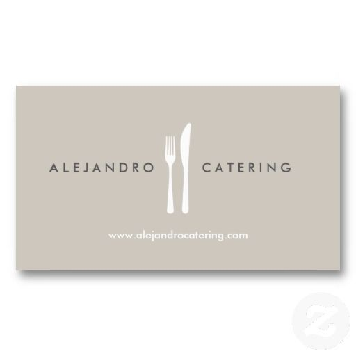 160 best business cards for catering companies chefs and fork knife logo for chef catering restaurant business card reheart Image collections
