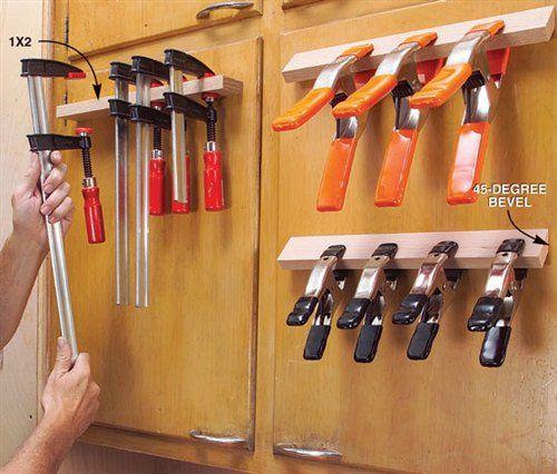 http://www.popularwoodworking.com/projects/cabinet-door-clamp-rack
