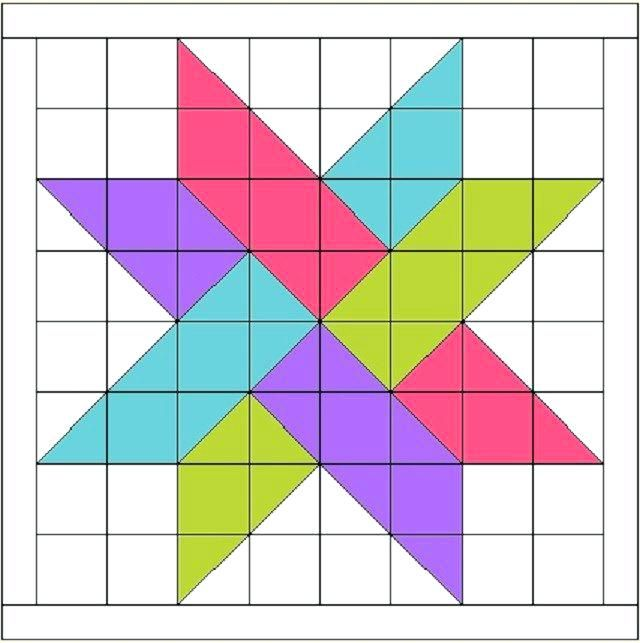 North Star Quilt Pattern Template Star Quilt Pattern Template Free