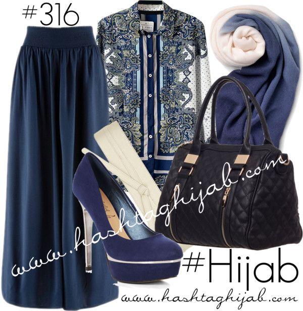 Hashtag Hijab Outfit #316 van hashtaghijab met black handbagsBlue chiffon shirt€5,34-amazon.comEvening maxi skirt€37-bonprix.co.ukNavy blue pumps€21-newlook.comBlack handbag€28-colettehayman.com.auSperry Top Sider navy blue shawl€18-sperrytopsider.comDorothy Perkins white belt€12-dorothyperkins.com