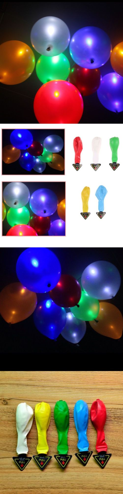 Venue Decorations 102430: 100-200Pack Led Helium Air Mixed Color Balloon Wedding Light Up Decoration Party -> BUY IT NOW ONLY: $36.99 on eBay!