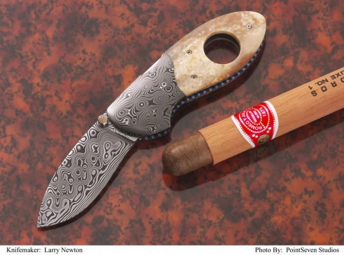 Cigar Cutter Knife by Larry Newton Knives
