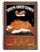 Art Deco Orient Express Advertising Athens Spiral Notebook