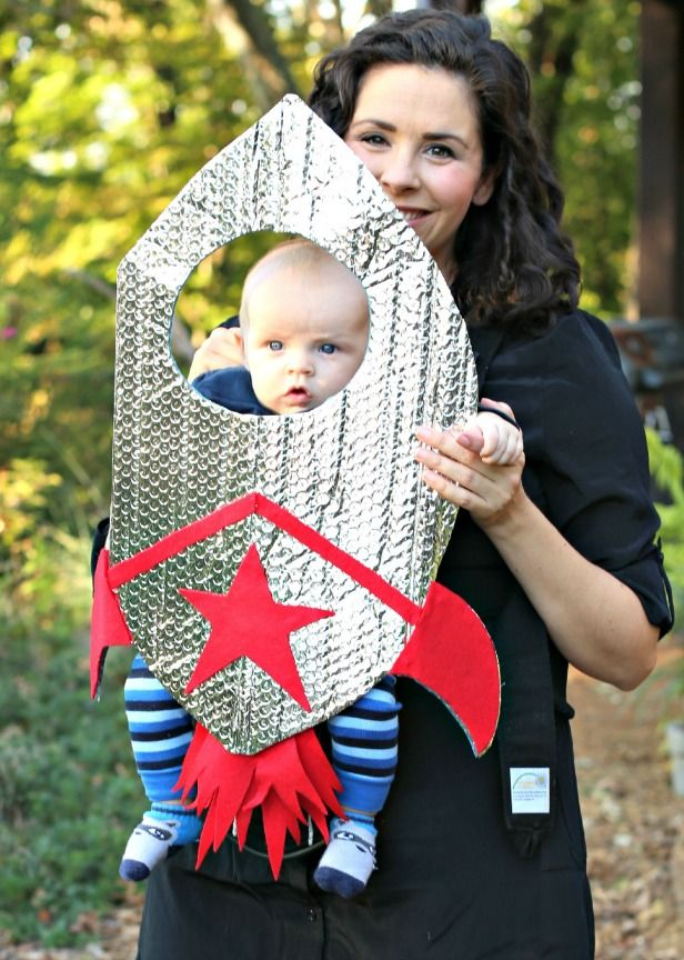 Weekday Crafternoon: Easy Baby Rocket #Halloween Costume (http://blog.hgtv.com/design/2013/10/08/weekday-crafternoon-easy-baby-rocket-halloween-costume/?soc=pinterest): Costumes Tutorials, Halloween Costumes Ideas, Costume Ideas, Baby Carrier Costumes, Baby Costumes, Blog Design, Rockets Costumes, Costumes Carrier, Baby Rockets