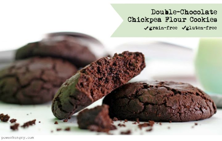 Double Chocolate Chickpea Flour Cookies (Gluten-Free + Grain-Free) | power hungry