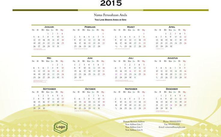 Kalender 2015 Indonesia - Design_24_Level