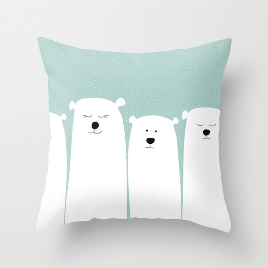 Polar people Throw Pillow by My Studio
