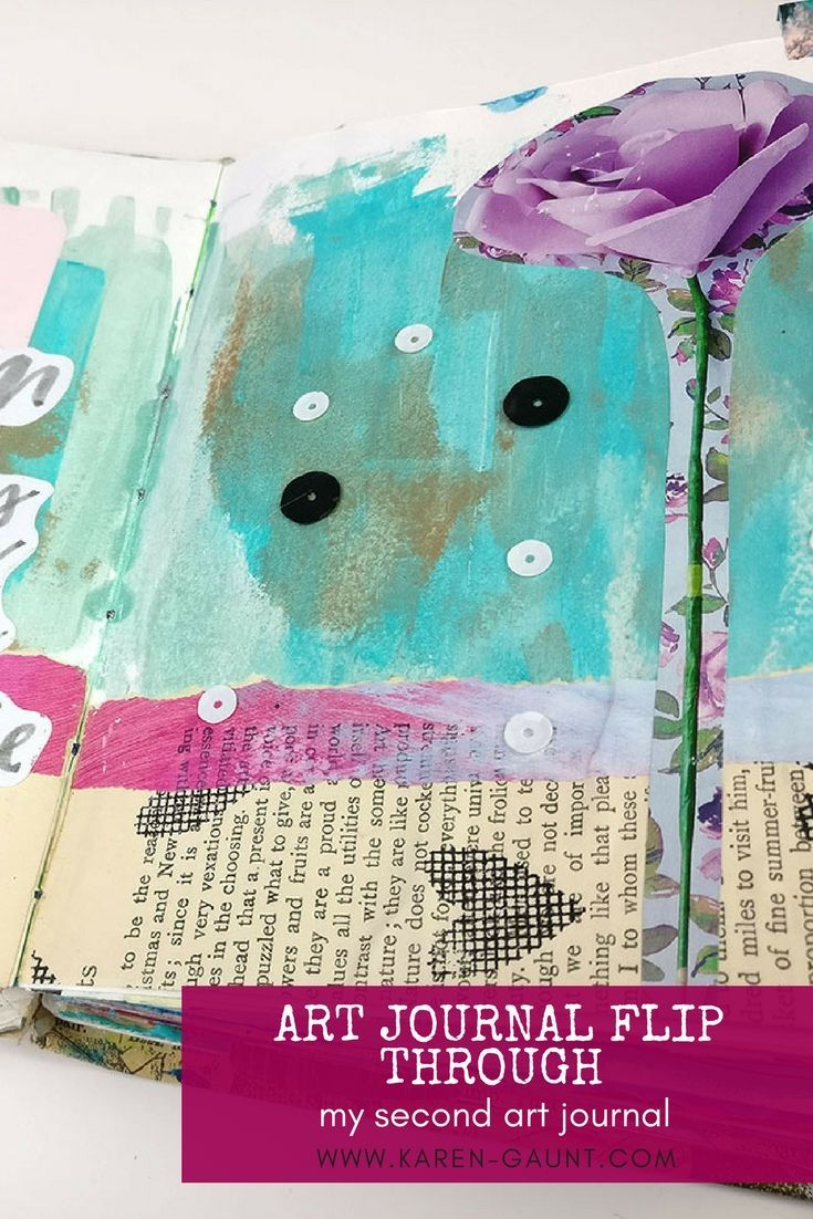 Journal Flip Through 2018   Part TwoJoin me as we travel back in time to see  another of my early journals!  I flip through my second art journal with you a reminisce about pages past. I wanted to show you that everyone starts somewhere in their art journal journey and looking through some of these older pages has been a blast! I even surprise myself by getting inspired to try some old techniques again.