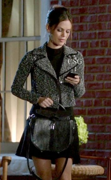 Hart of Dixie style: Rachel Bilson as Zoe Hart wears the tweed boucle Rachel Roy The Aimee jacket on Hart of Dixie episode 8 - Achy Breaky Hearts