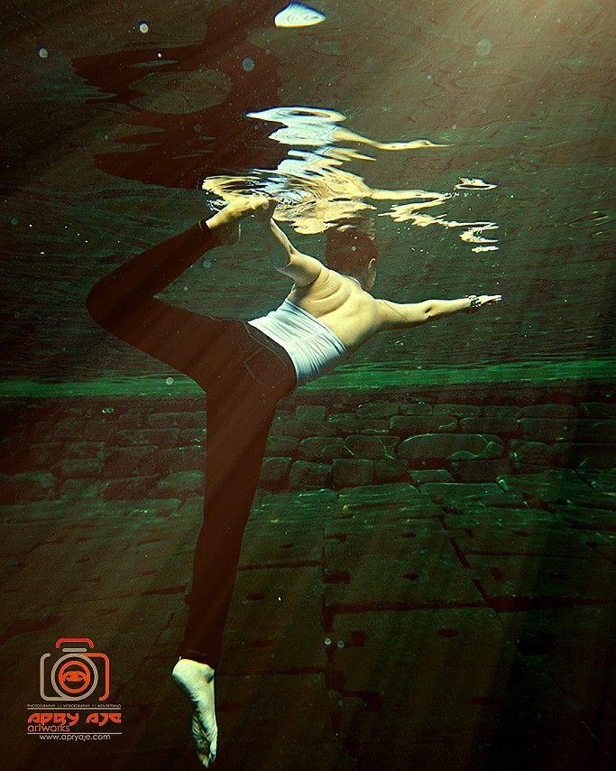 Yoga underwater harmony