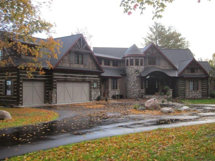 17 best images about old kentucky logs on pinterest for Log and brick home