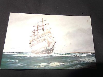Norwegian sailer #channel sailing boat afd bannister #c1930  #salmon postcard 1-h,  View more on the LINK: 	http://www.zeppy.io/product/gb/2/322116327788/