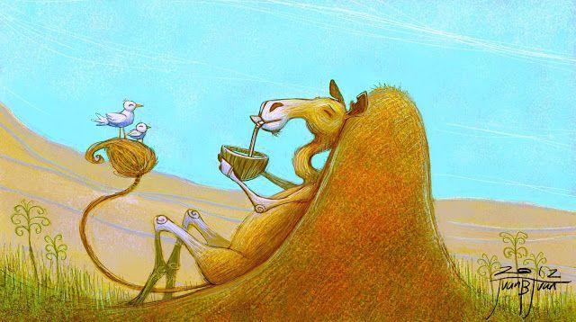 "juanbjuan children illustration: Final cover for ""How the camel got its hump"""