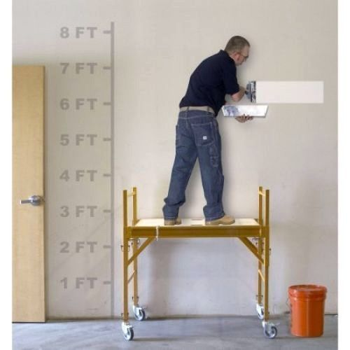Rolling Scaffold Portable Platform Wheels Scaffolding Tower Deck 4 Foot Stand #RollingScaffoldPortable