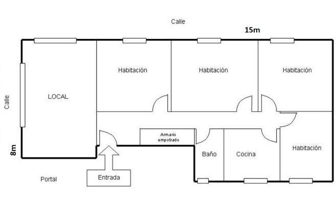 Resultado De Imagen Para Planos De Locales Con Vivienda Planos De Casas Planos Planos De Casas Modernas