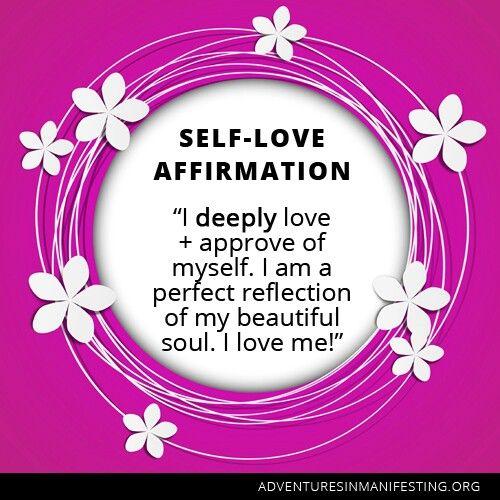 Self-love affirmation