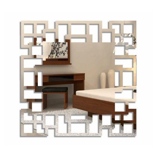 Nalepovacie štvorcové zrkadlá labyrint