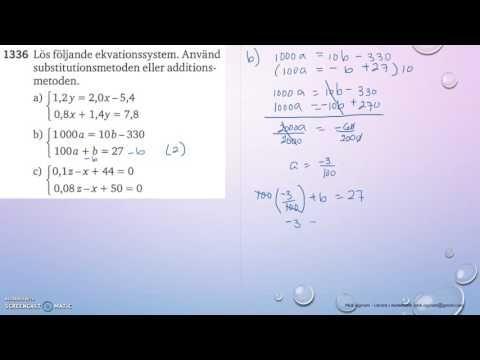 Matematik 5000 Ma 2c   Kapitel 1   Ekvationssystem   Additionsmetoden   ...
