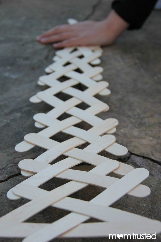 Fun Science at Home!  Popsicle Stick Chain Reaction...So cool!!!