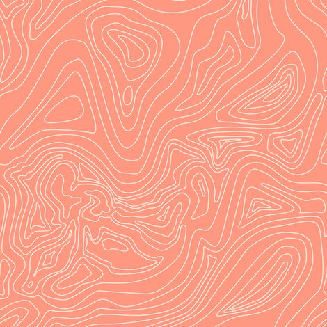 Ocean depth map coral - mini scale fabric by ravynka on Spoonflower - custom fabric