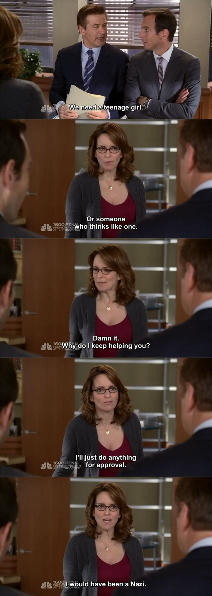 "30 Rock Season 7 Episode 9: Game Over. ""I would have been a Nazi."""