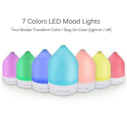 Marsboy LED Aroma Ultraschall Luftbefeuchter Diffuser 7: Amazon.de: Elektronik
