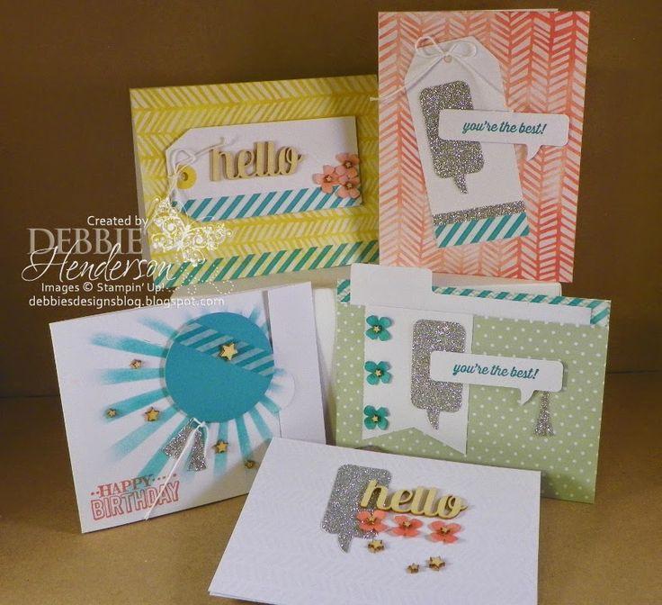 Stampin' Up! Hooray It's Your Day Kit alternate cards. Debbie Henderson, Debbie's Designs.