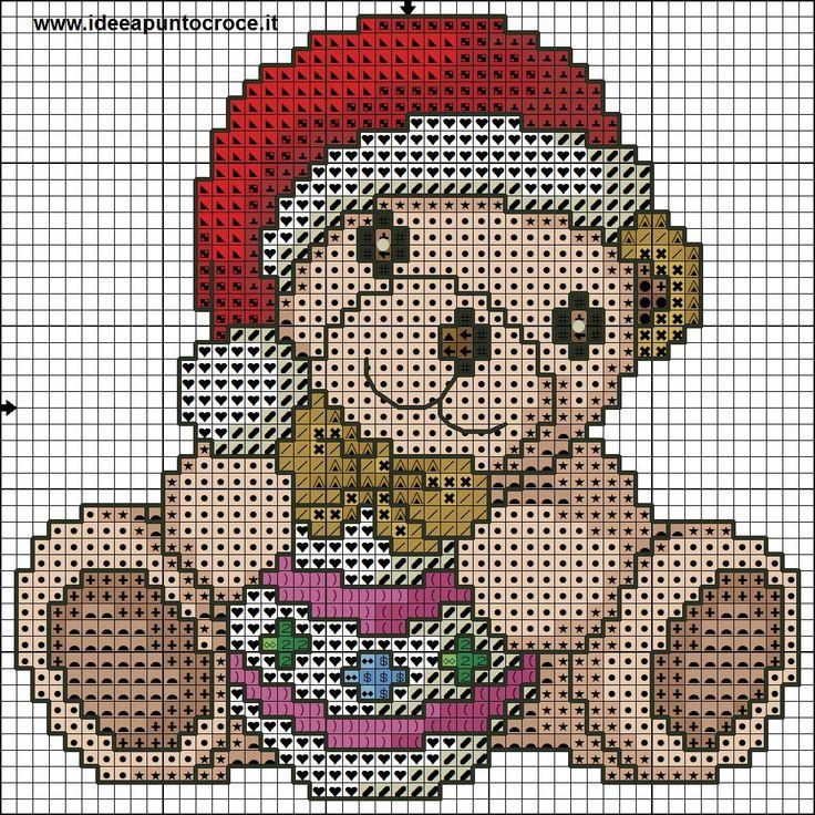 orsetto thun natalizio punto croce