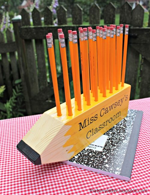 That 39 S My Letter P Is For Pencil Shaped Pencil Holder: cool pencil holder ideas