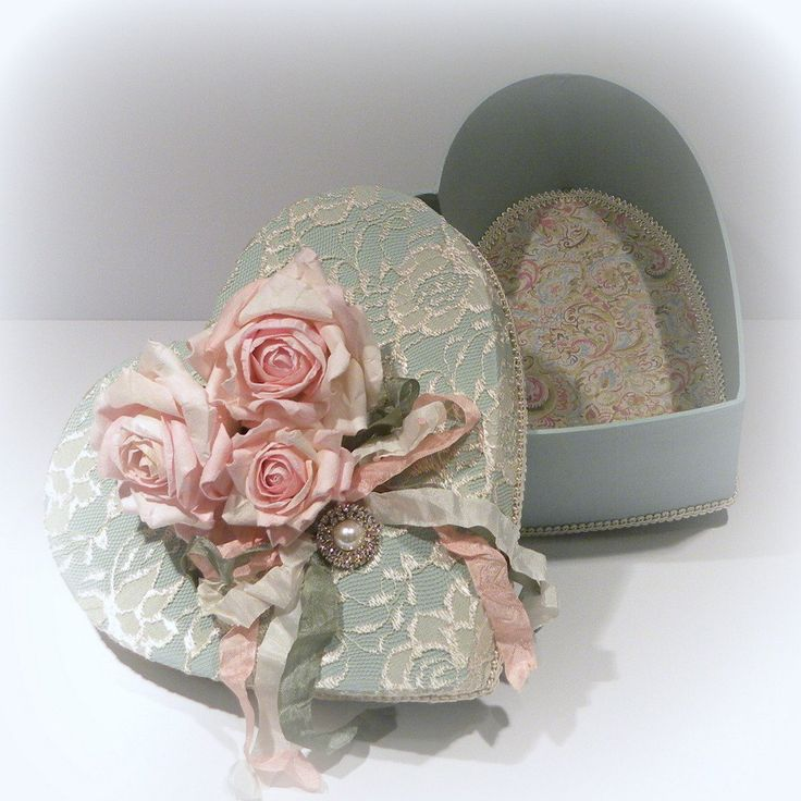 Beautiful covered heart box
