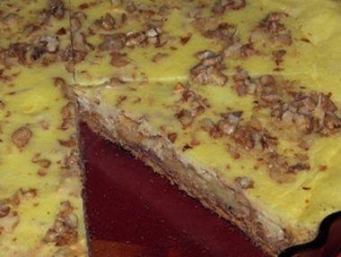 Tvarohový koláč s jablky - dia