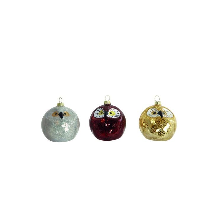 Owl ornament, 3-pack i gruppen Inredningsdetaljer / Juldekoration hos RUM21 AB (113431)