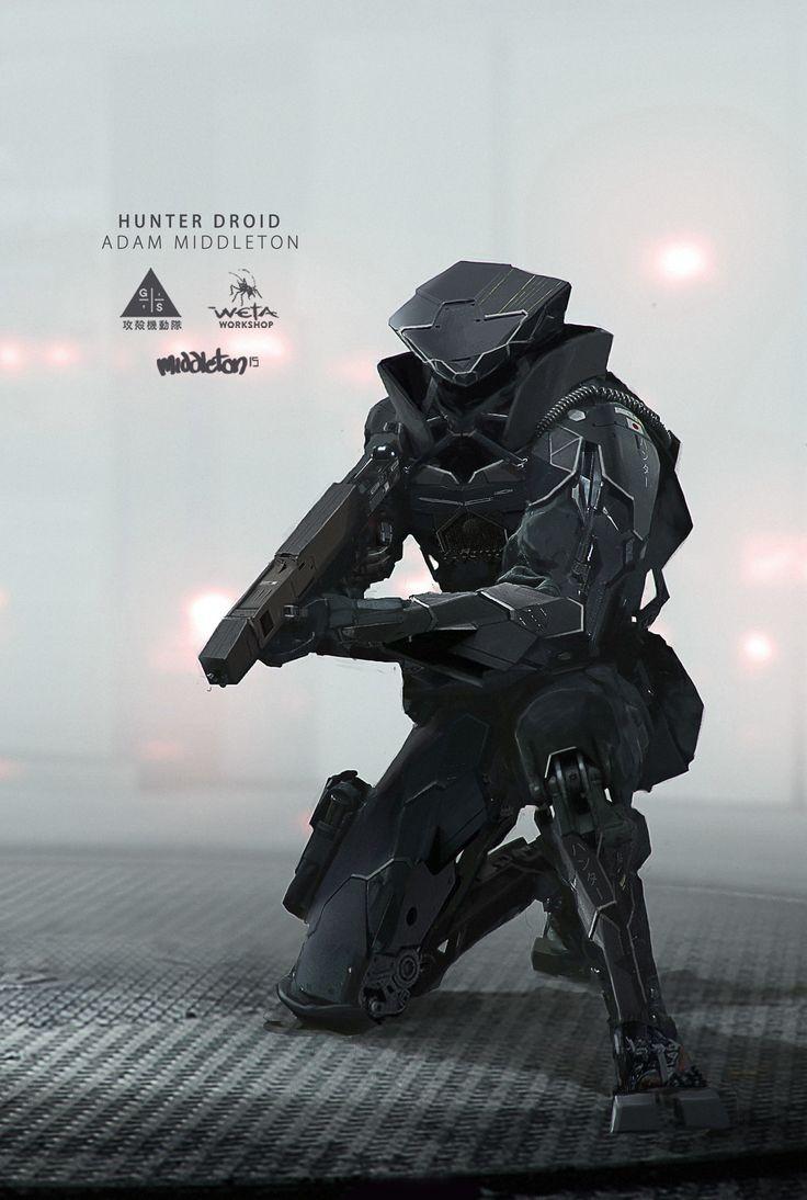 ArtStation - Ghost in the Shell - Hunter Droid, Adam Middleton
