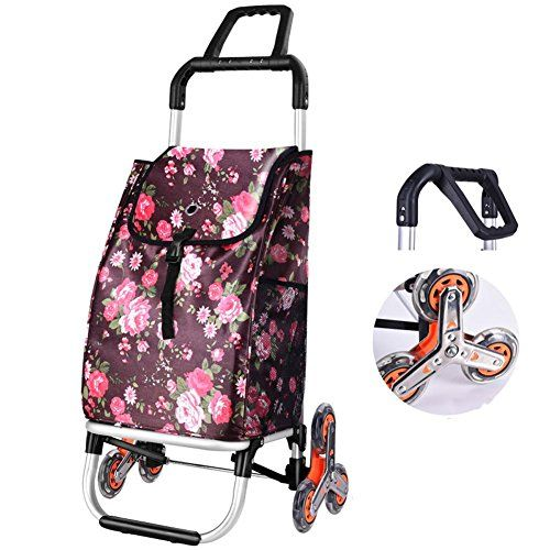 Wei-d Aluminum Alloy Folding Portable Shopping Stairs Cart Shopping Cart Luggage Trolley Car , K #Aluminum #Alloy #Folding #Portable #Shopping #Stairs #Cart #Luggage #Trolley