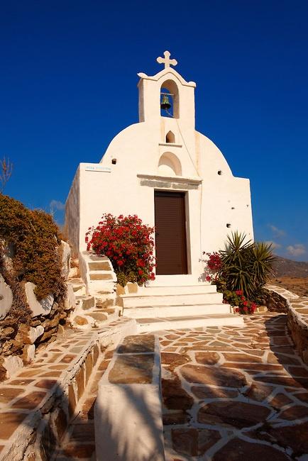 Chapel in Ios island, Greece