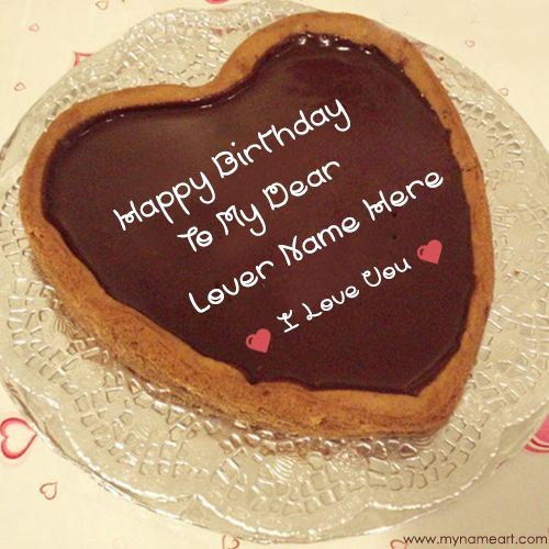 birthday wishes and happy birthday cake image with lover name edit