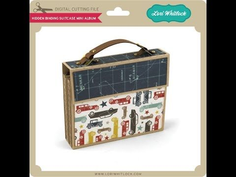 Hidden Binding Suitcase Mini Album - Lori Whitlock's SVG Shop