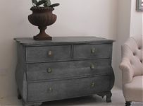 Painted Dutch Early 19thC Bombe Commode