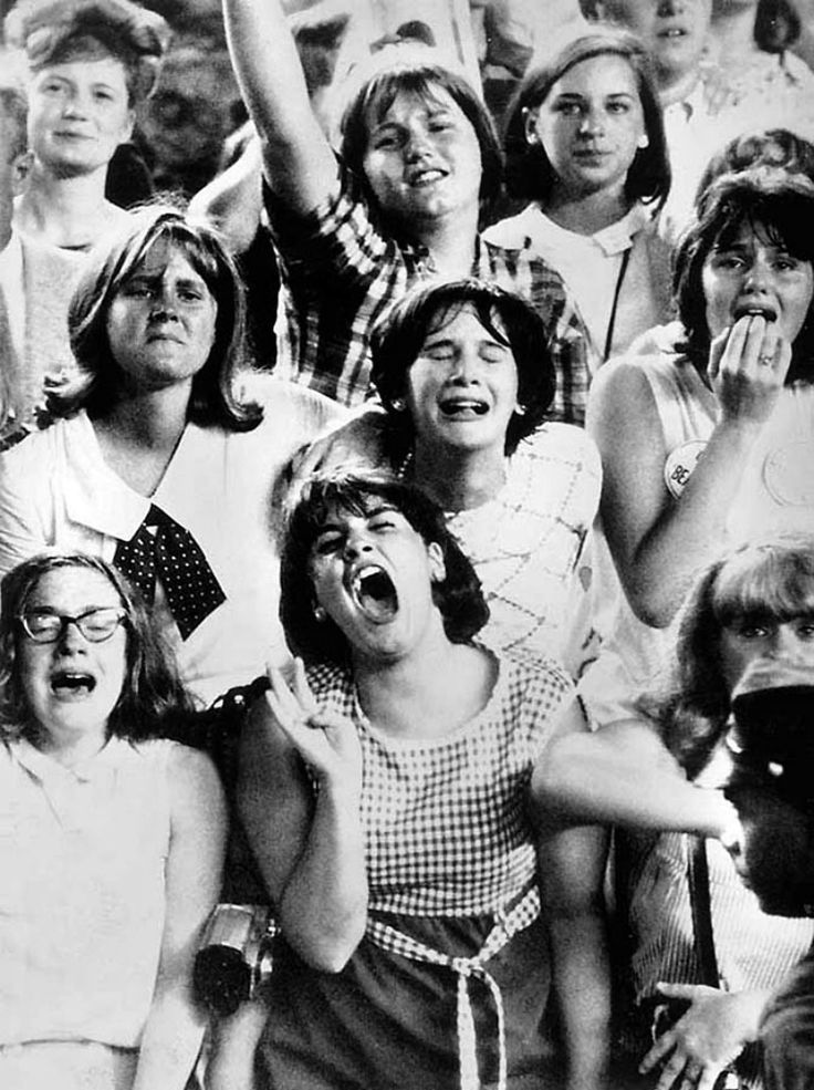 Beatlemania, New York, 1965. These girls are in their 60's now - hope they have not grown up or grown old and still get excited about the music!!!