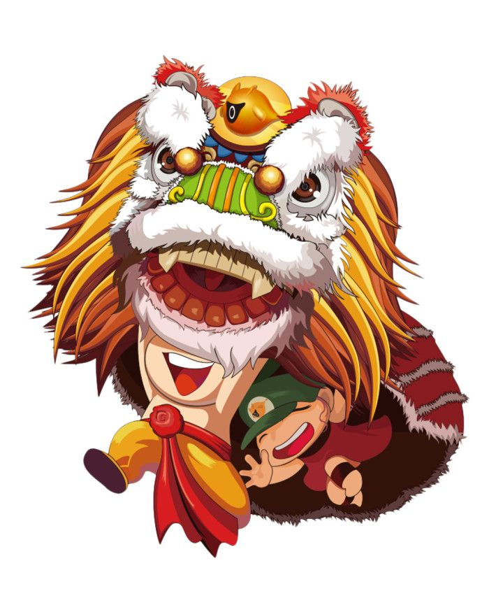 Chinese Customs New Year Lion Dance Vector Traditional Culture To Celebrate Festival New Year Elements Png Images Vector M Lion Dance Cartoon Lion Dance Vector