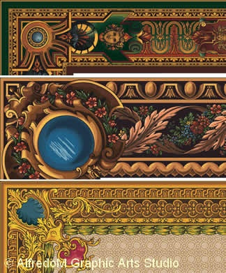 Renaissance & 17th century illuminated manuscript graphics. Auguste Racinet, L'Ornement Polychrome