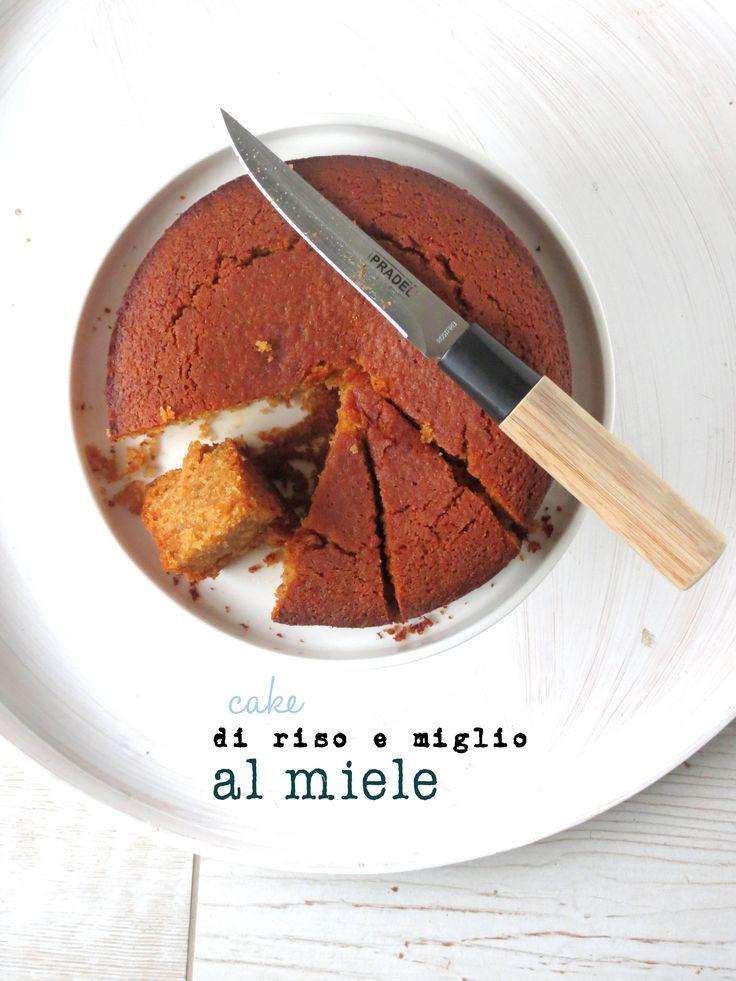 cake di riso e miglio al miele