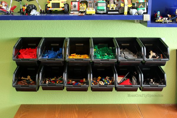 For those moms and dads out there like us wondering how to organize your child's crazy Lego collection, check this out!