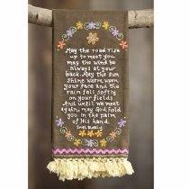 Toalha para as mãos com uma linda oração Irlandesa! Sua mamãe vai adorar!