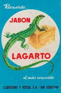 Cartel de Jabón Lagarto