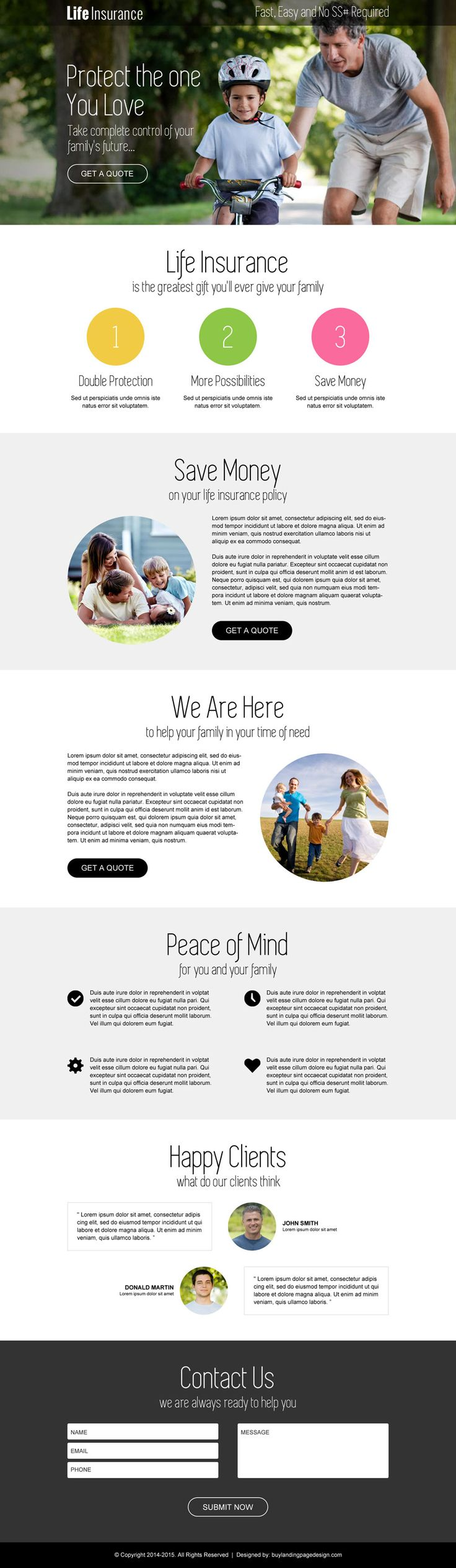 Life Insurance Free Quotes 69 Best Life Insurance Landing Page Design Images On Pinterest