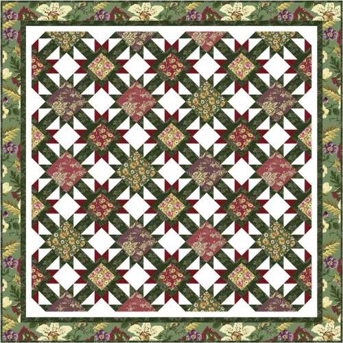 Hurry Home in FONS & PORTER'S LOVE OF QUILTING (January/February 2014) | Ivory Spring