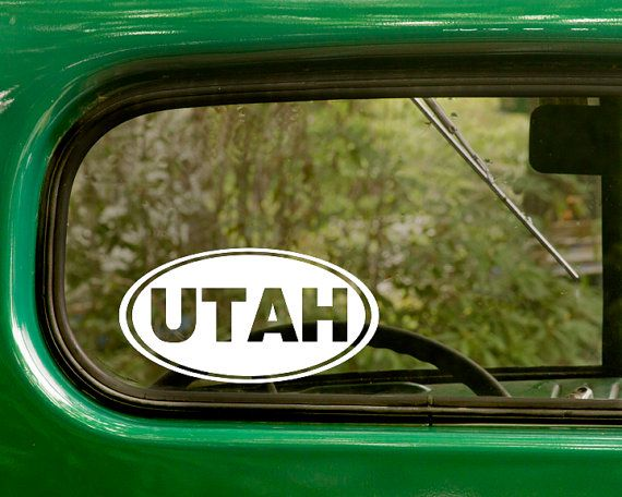 Best Oval State Stickers Decal Images On Pinterest - Custom vinyl decals utah