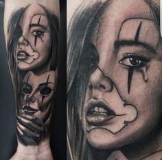 Sad girl with mask